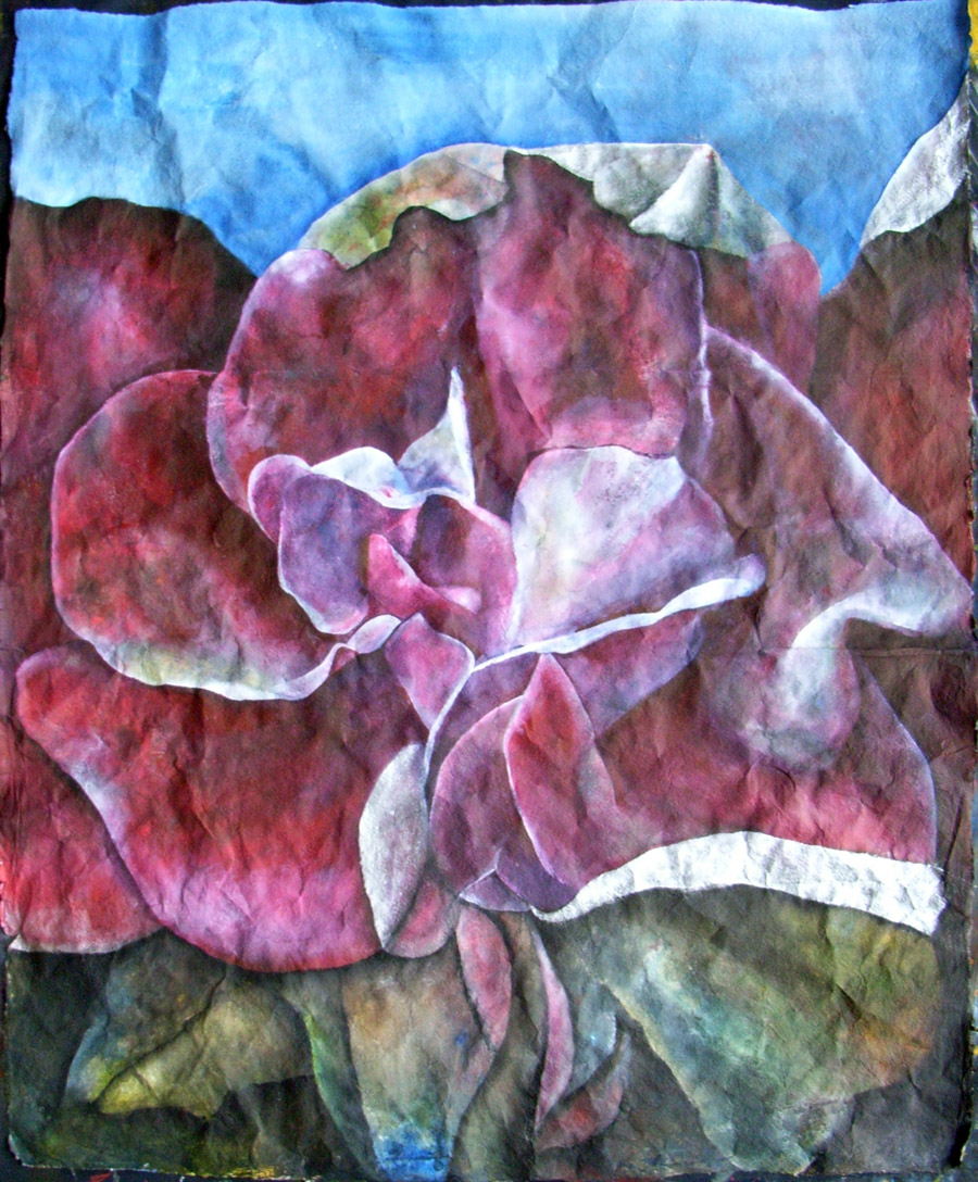 Rose's Rising   2007, 68 x 82 cm, Aquarell